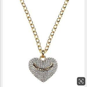 Juicy Couture Pavé Heart Long Pendant Necklace